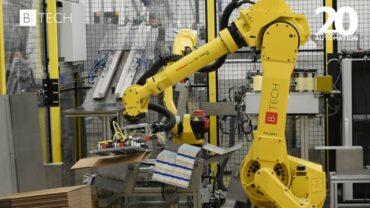 B:TECH – Robotická manipulace a paletizace v polygrafii