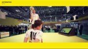 Soccer freestylers at automatica